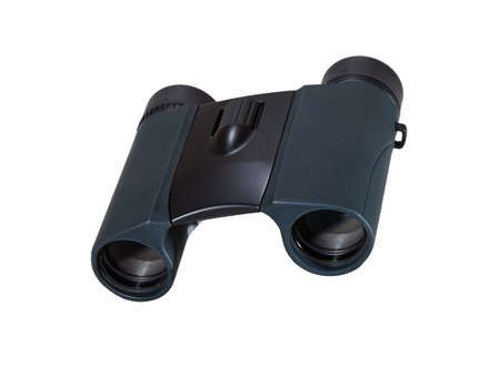 Front view of binoculars isolated on white