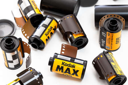 Rolls of Kodak film Stock Photo - 12018071