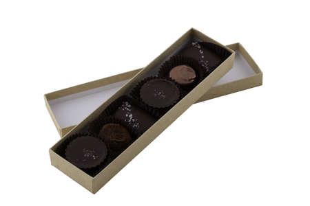 Box of chocolates isolated on white with clipping map Stock Photo - 12782510