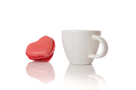 Heart shaped Macaroon and Espresso Drink Stock Photo - 17900006