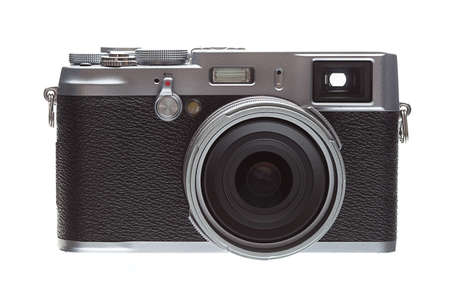 Front Veiw Retro Styled Camera Isolated On White Stock Photo - 21441256