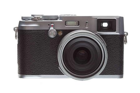 Front Veiw Retro Styled Camera Isolated On White