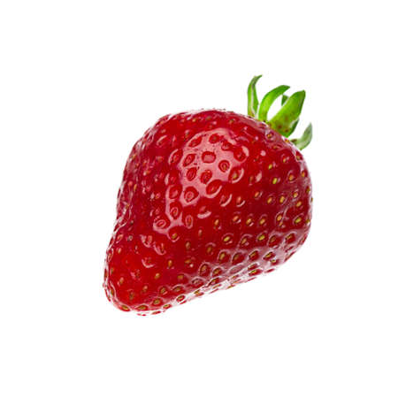 A Single Strawberry Isolated On A White Background Stock Photo - 22313943