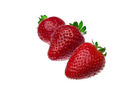 Three Strawberries Isolated On A White Background Stock Photo - 22313945