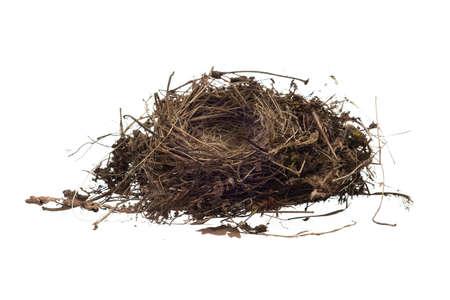 Bird Nest Isolated On White Background Stock Photo