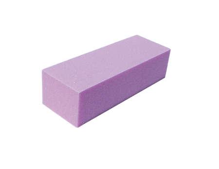 ピンクの爪はブロックをバフ研磨