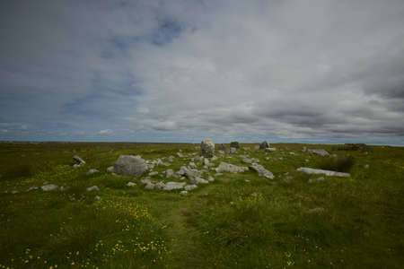 stone circle: Steinacleit Stone circle Isle of Lewis