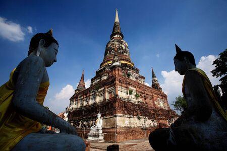 Wat Yai Chai Mongkol Temple is a beautiful part of the Ayutthaya World Heritage Site. photo