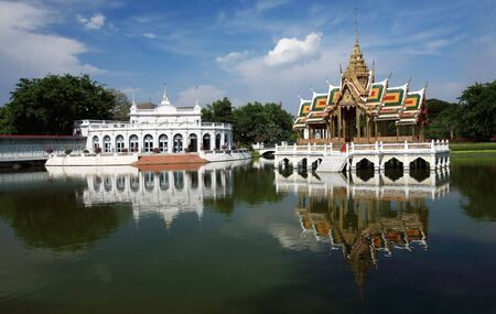 attractiveness: Bang Pa-In Palace. Thailand is a beautiful palace and a tourist attractiveness of Ayutthaya. Stock Photo