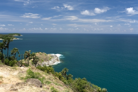 Phromthep cape viewpoint with blue sky Phuket,Thailand  photo
