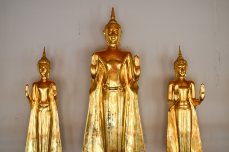 Golden Buddha image in wat pho photo