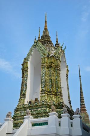 far east: Ornamentales campana en Wat Pho, Bangkok, Tailandia