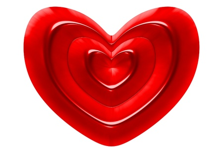infatuation: red heart symbol on white background Ideal for Valentines Day, Mothers Day, wedding, I love you etc illustrations and