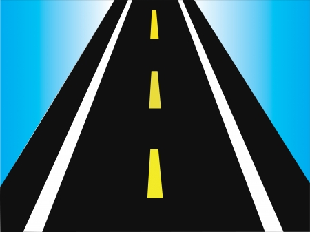 dashed: illustration of abstract highway going to horizon