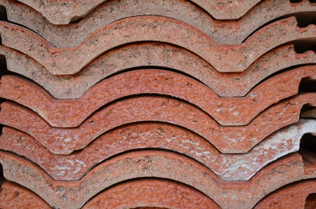 Heap of roofing tiles photo