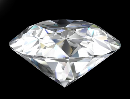 Shiny diamond isolated on black . Stock Photo - 23325495
