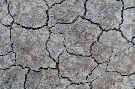 hardened: Hardened and ground cracks. Stock Photo