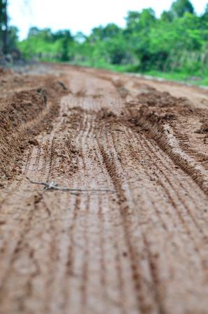 redirection: rural gravel road is under construction