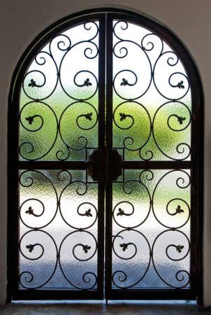 Wrought iron door photo