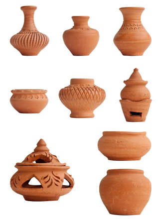 clay pot: Pottery Stock Photo