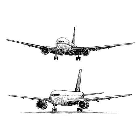 Drawing of the airplane landing in Vietnam