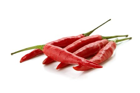 red hot chili peppers over white background photo