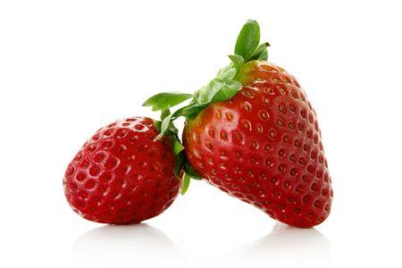 fresh strawberries over white background photo