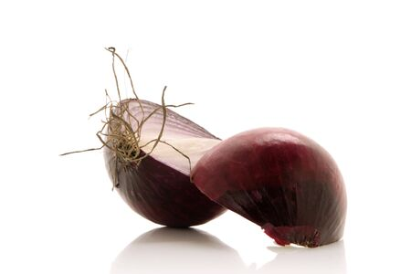 red onion sliced over white background Stock Photo - 781442