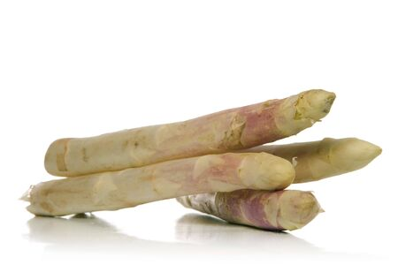 white asparagus isolated  over white background photo