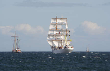 From the Tall Ship Race 2007 at Aarhus, Denmark Stock Photo
