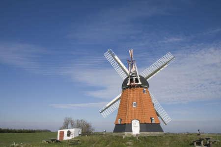 Old Windmill at the eastcoast of Jutland, Denmark