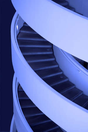 Blue Stairs. Architectual detail in  a modern building.