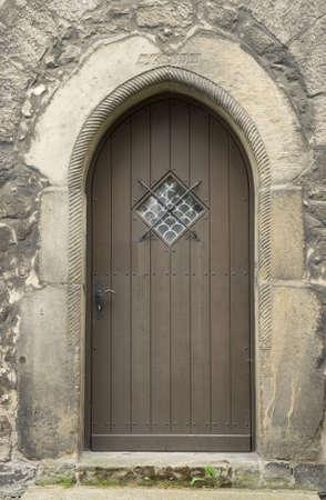 handle bars: Iglesia puerta en Goslar, Alemania