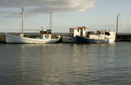 fishingboats: Old Fishingboats. Shot taken at the small harbour Snaptun near Horsens, Denmark
