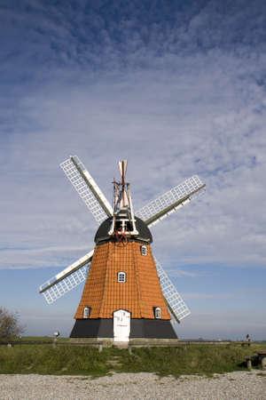 jutland: Old Windmill at the eastcoast of Jutland, Denmark