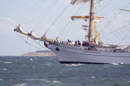 Sailing Ship Leaving Port. From the Tall Ship Race 2007 at Aarhus, Denmark