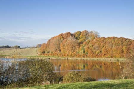Lake at autumn. Shot taken near Skanderborg, Denmark Stock Photo - 4062108