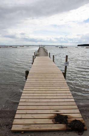 landing stage: Landing Stage. Shot taken at a beach near Aarhus, Denmark