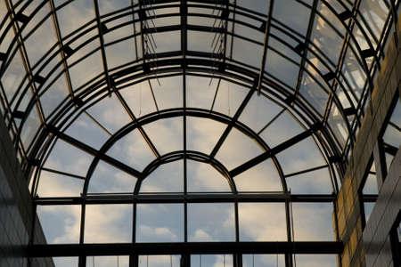 Clouds Seen Through a Window at the Congress Center at Aarhus, Denmark
