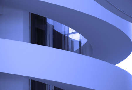 Curves with Blue Filter. From a modern building in Aarhus, Denmark