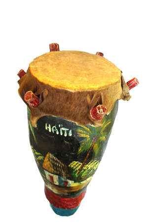 Primitive drum from the island of Haiti photo