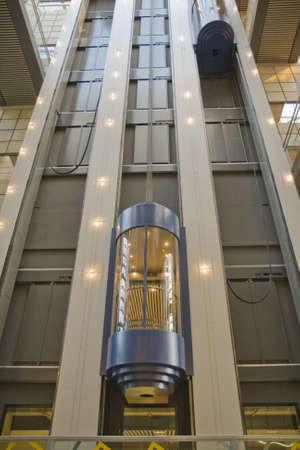 An empty elevator in at modern building. Aarhus, Denmark Stock fotó