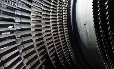 turbina de vapor: Parte de la turbina. Desde el poder de la antigua estaci�n de Tange, cerca de Viborg, Dinamarca