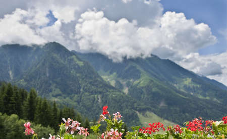 Clouds over the Mountains. From the Austrian Alps near St. Johann Stock Photo - 5220687