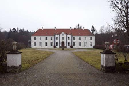 Allinggaard Manor House niedaleko Silkeborg, Dania Zdjęcie Seryjne