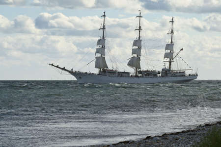 bowsprit: Tall ship heading for se near Aarhus, Denmark