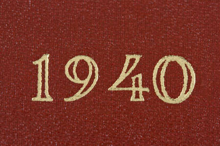 0 1 year: the number 1940 printed in gold on a red background