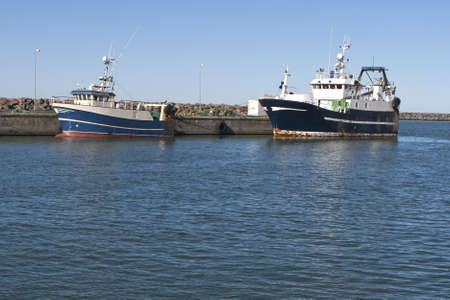 hirtshals: Modern fishing boats in the harbour at Hirtshals, Denmark