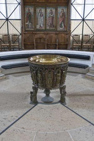 baptismal: Baptismal font in the cathedral at Lübeck