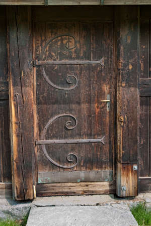 Shot from the stave church at Uvdal in the southern part of Norway photo & Door Handle On Nordic Stave Church In Hahnenklee Germany Stock ...